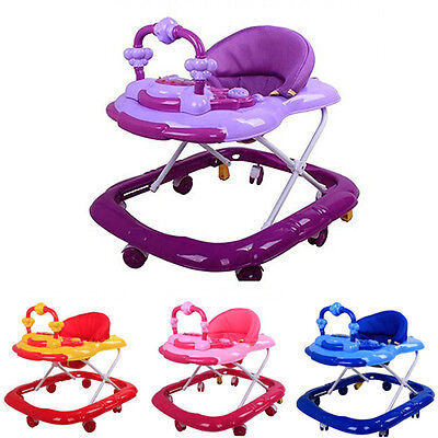 New Baby Walker Toddler First Steps Toys Safety Activity Tools With Light/Music
