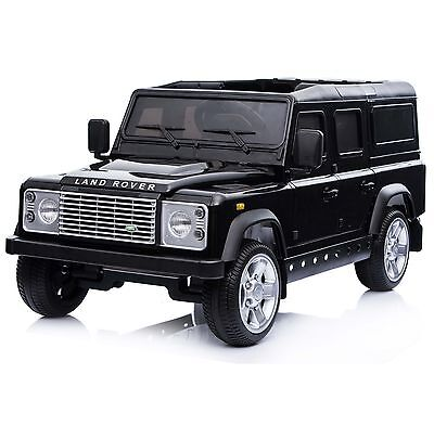 Licensed Land Rover Defender 12v Child's Battery Electric Ride On - Black