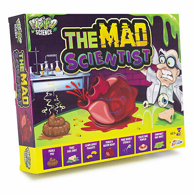 The Mad Scientist Weird Science Childrens Chemistry Experiment Set Kit Toy 44001