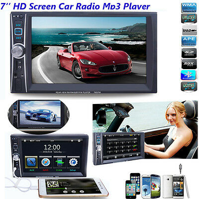 Blutooth 7'' 2Din Touchscreen In dash Car Stereo Radio FM/Mp3/Aux Player +Camera
