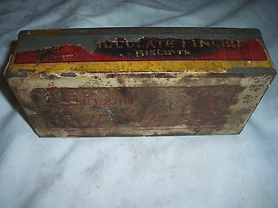 Very Old Paper Label 1 lb Arnott's Chocolate Finger Biscuit Tin Homebush