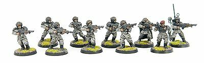 Warhammer 40k - Imperial Guard Squad - Painted # 2E15
