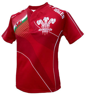 Olorun Wales Sublimated Supporters Rugby Shirt S-7XL