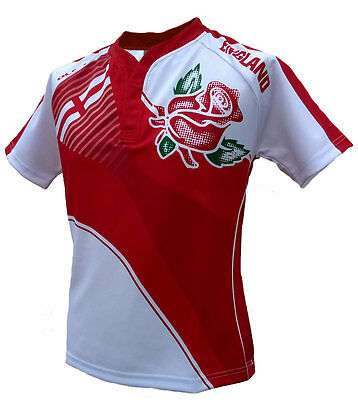 Olorun England Home Nations Sublimated Supporters Rugby Shirt S-5XL