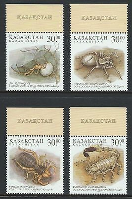 Kazakhstan 207-210 Spiders, Scorpions Set of Four stamps 1997 Issue MNH