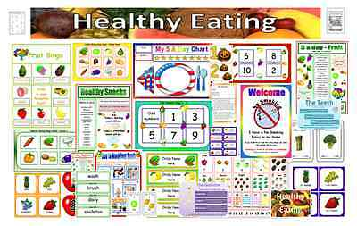 HEALTHY EATING & KEEPING HEALTHY themed resources EYFS KS1 Mega pack gt value