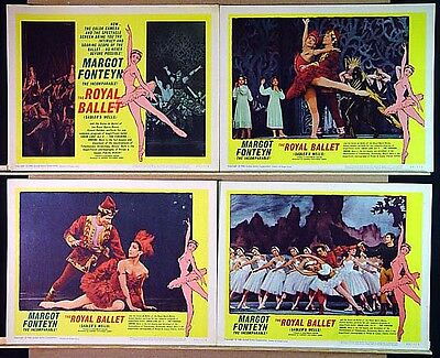THE ROYAL BALLET original 1960 lobby card set MARGOT FONTEYN 11x14 movie posters