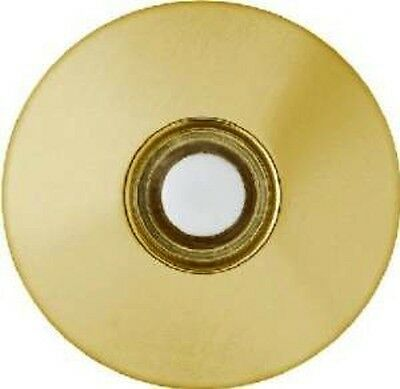 Thomas & Betts Carlon DH1260L Stucco White Push Button Polished Brass doorbell
