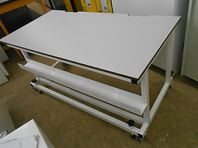 "60"" x 30""x 30"" TALL .75"" THICK LAMINATE TOP LAB BENCH/TABLE ON WHEELS"