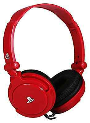 Playstation 4-PRO4-10 STEREO HEADSET - RED  AC NEW