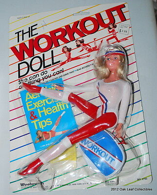 Woolworth Exclusive 12 inch Workout Doll NRFB  1984