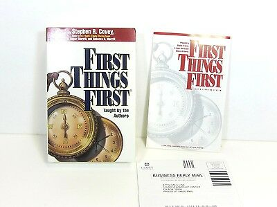 New Steven Covey First Things First Workshop