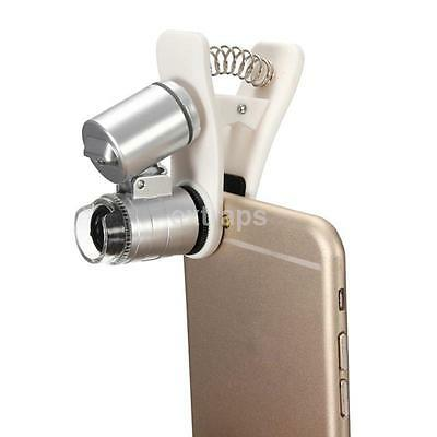 New 60X Optical Zoom Clip Telescope Universal Microscope Lens for Cell Phone