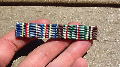 "WW2 WWii USMC MARINE CORPS NAVY American ETO CAMP Ribbon Bar 1/2"" Wide Pin Back"
