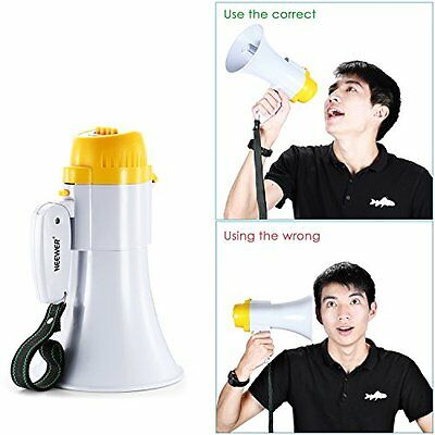 Neewer® Portable 10 Watt Handheld Megaphone/Bullhorn with Siren, Voice New