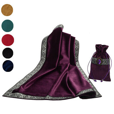 Blessume Altar Tarot Table Cloth Bag Divination Wicca Square Tablecloth Pouch