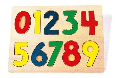 Wooden Coloured 123 Number Puzzle