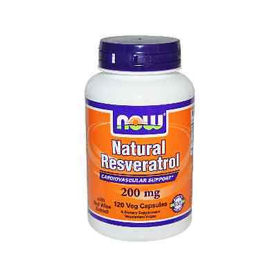 Natural RESVERATROL, 200mg x 120VCaps, Now Foods, Cardiovascular