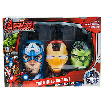 Marvel Avengers Toiletries Gift Set Iron Man Hulk Hand Wash Shower Gel Shampoo