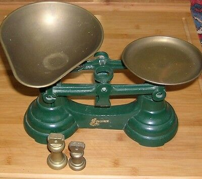Vintage Style Green Librasco Traditional Balance Scales 2