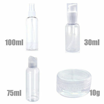 Portable 4 in 1 set Cosmetic Bottle Travel Make Up lotion Bottles Containers New