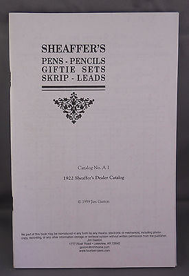 Sheaffer Reproduction l922 Dealer Catalog