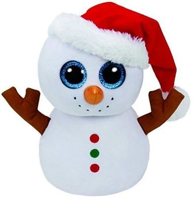 """TY Beanie Babies Boo's Scoop Santa Snowman 6"""" Stuffed Collectible Plush Toy NEW"""