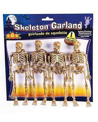 String of  4 Skeletons Haunted Decor Garland Halloween Day of the Dead Party