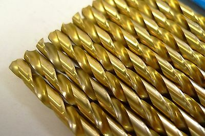 12 size #5 TWIST DRILLS TIN COATED GREENFIELD IND. USA 150T *FREE SHIPPING* *14