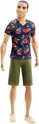 Barbie Ken Steven Fashionistas Barbie  A.A Doll # 4 Floral Tee New
