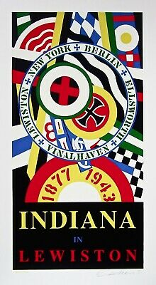 Indiana in Lewiston, Limited Edition Silkscreen, Robert Indiana - SIGNED