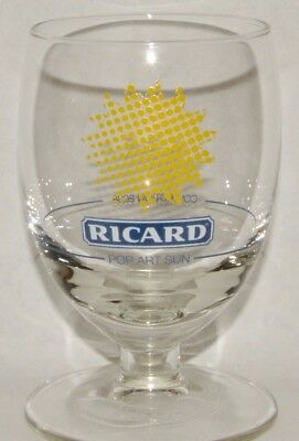 "RICARD Verre à pied ""pop art sun collection 2008"" neuf"