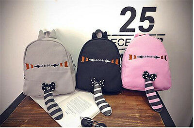 LOLITA Girls Cute Cat Pattern Backpack Students Casual Bag School Bag Fashion