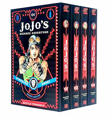 JoJo's Bizarre Battle Tendency Vol 1-4  Adventure Part 2 Collection 4 Books Set