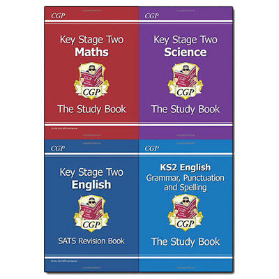 CGP Books KS2 Study Book Collection 4 Books Set Pack (for the New Curriculum)NEW