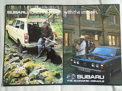 Subaru range brochure May 1978