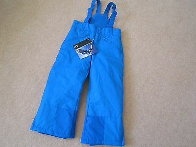 Brand New Boys Bright Blue Ski Trousers Age 3-4