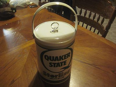 Quaker State Sterling Motor Oil Ice Bucket Advertising Man Cave
