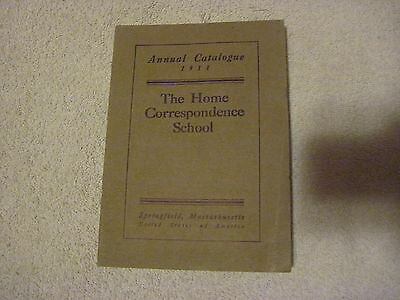 1911 Annual Catalogue Springfield,mass Correspondence School Learn At Home