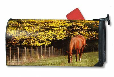 Magnet Works Mailwraps Out to Pasture Horse Original Magnetic Mailbox Wrap Cover