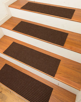 NaturalAreaRugs Halton Carpet Stair Treads, Chocolate ( Set of 13)