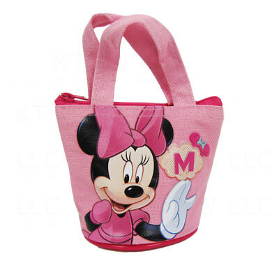 New Mickey Minnie Mouse Fashion Pink Mini Hand Bag Coin Bag Purse For Kids