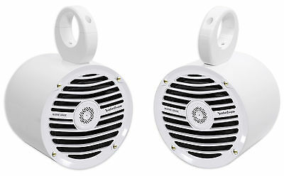 "Pair Rockford Fosgate RM0652 6.5"" 100 Watt Marine Boat Wakeboard Tower Speakers"