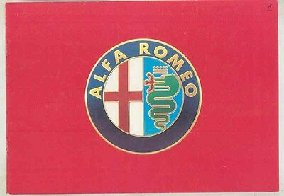 1989 Alfa Romeo Spider 75 164 33 Brochure Dutch ww2896