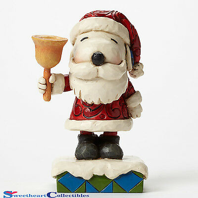 Jim Shore Peanuts Christmas 4045875 Santa Snoopy with Bell New 2015