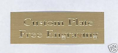 Custom Engraved Plate art-trophy-Taxidermy 1x3 Brass FREE ENGRAVING