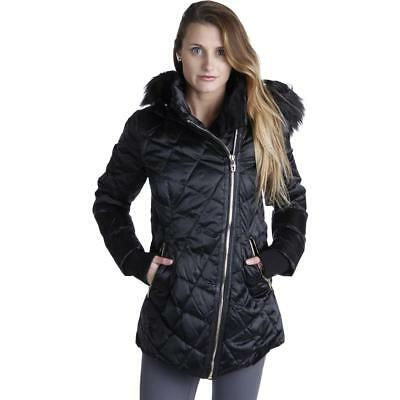 Steven By Steve Madden 4500 Womens Quilted Faux Fur Down Coat Outerwear BHFO