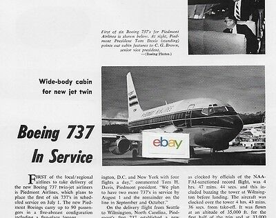 Piedmont Airlines 1965 Piedmontland Where People Are Going Places Martin 404 Ad