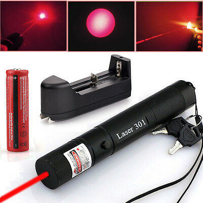 650nm Astronomy Military Tactical 5mW Red Laser Pointer Pen + 18650 Battery