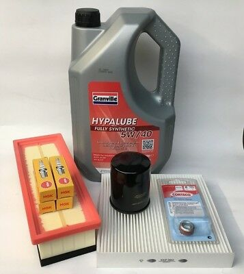 Fiat 500 1.2i Service Kit Oil, Air & Pollen Filters, NGK Plugs, Engine Oil 2012-